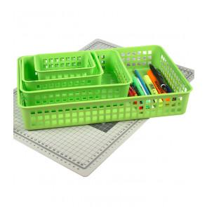 Műanyag kosár, A7 zöld, 14x11x6 cm - UTOLSÓ 10 DB