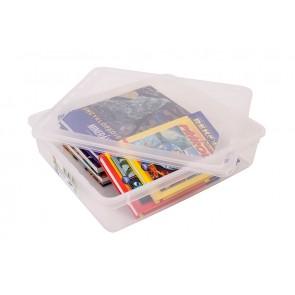 Basixx műanyag tároló doboz 9 l, átlátszó, 39x33,5x9 cm