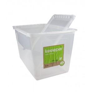 Basixx műanyag tároló doboz 52 l, átlátszó, 59x39x35 cm