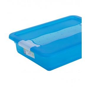 Crystal műanyag tároló doboz 7 l, világoskék, 39,5x29,5x9,5 cm UTOLSÓ 2 DB