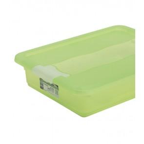 Crystal műanyag tároló doboz 7 l, világoszöld, 39,5x29,5x9,5 cm