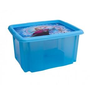 """Műanyag tároló doboz """"FROZEN"""", 24 l, kék, fedéllel, 41x34x22 cm"""