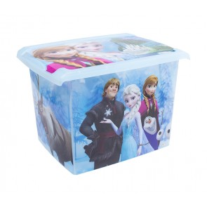 "Fashion műanyag tároló doboz , ""FROZEN"", 39x29x27 cm"