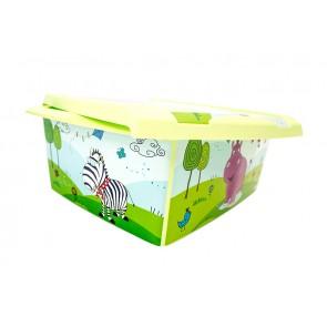 """Fashion műanyag tároló doboz,""""HIPPO"""", 39x29x14 cm"""