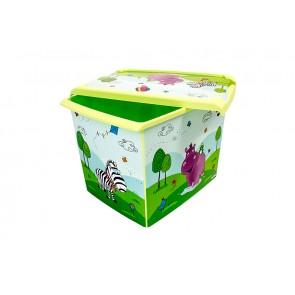 """Fashion műanyag tároló doboz,""""HIPPO"""", 39x29x27 cm"""