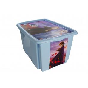 Műanyag doboz Fagyasztva, 24 l, kék fedéllel, 43x36x23 cm