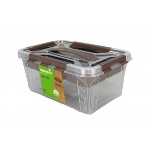 Clip műanyag doboz, 6,6 l , átlátszó ,29x19x18 cm