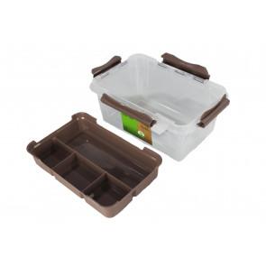 Clip műanyag doboz, 15,3 l , átlátszó, 39x19x18 cm