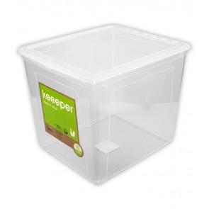 Basixx műanyag tároló doboz 30 l, átlátszó, 39x33,5x35 cm