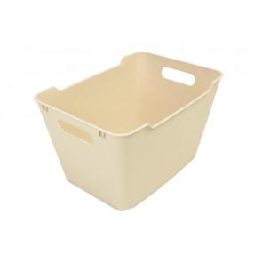 Loft műanyag tároló doboz 1,8 L, krémszínű, 19,5x14x10 cm