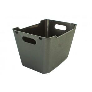 Loft műanyag tároló doboz 1,8 L, grafit, 19,5x14x10 cm
