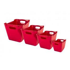 Loft műanyag tároló doboz 1,8 L, sötétpiros, 19,5x14x10 cm - UTOLSÓ 10 DB