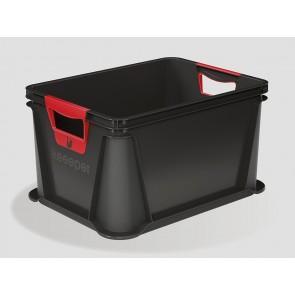 Eurobox műanyag tároló doboz, 20 L, grafit, 39x29x22 cm