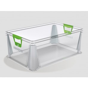 Eurobox műanyag tároló doboz, 45 L, átlátszó, 59x39x23,5 cm