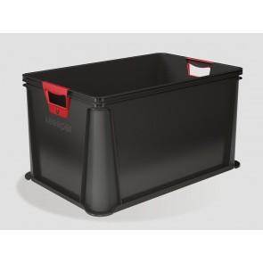 Eurobox műanyag tároló doboz, 64 L, grafit, 59x39x32 cm