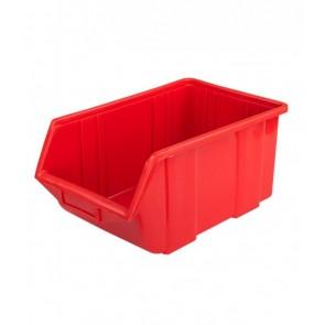 Alkatrésztároló doboz, kicsi, piros, 11x16,5x7,5 cm