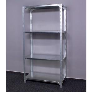 Metal fém polcrendszer, 4 polc, 150x80x30 cm, 100 kg