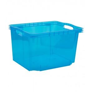 Multi M műanyag tároló doboz, világoskék, fedél nélkül, 35x27x21 cm