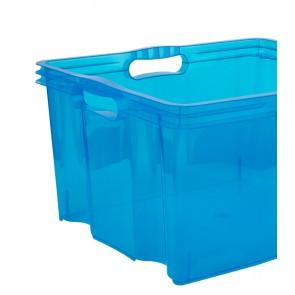 Multi XL műanyag tároló doboz, világoskék, fedél nélkül, 43x35x23 cm