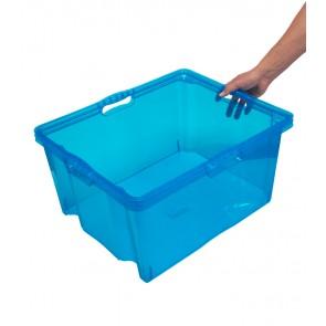 Multi XXL műanyag tároló doboz, világoskék, fedél nélkül, 52x43x26 cm