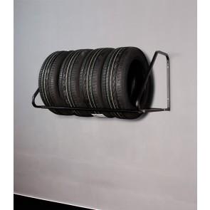 Falra szerelhető keréktartó állvány, fekete