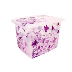 "Fashion műanyag tároló doboz,""ROMANCE"", 39x29x27 cm - UTOLSÓ 4 DB"