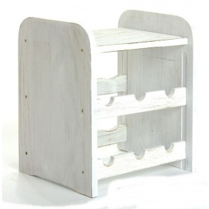 Ricos Bortartó, 6 üvegre, Provance – fehér, 38x33x27 cm