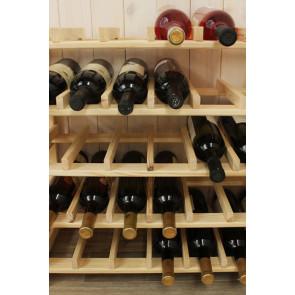 Állvány borok tárolására, 63 üvegre,