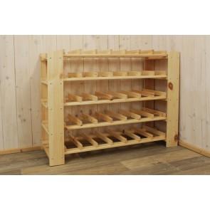 """Állvány borok tárolására, 35 üvegre, """"Natur"""", 59x80x30 cm"""