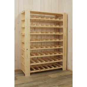 """Állvány borok tárolására, 56 üvegre, """"Natur"""", 110x80x30 cm"""