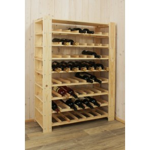 Állvány borok tárolására, 56 üvegre,