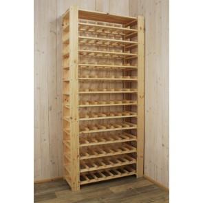 """Állvány borok tárolására, 91 üvegre,""""Natur"""", 174x80x30 cm"""