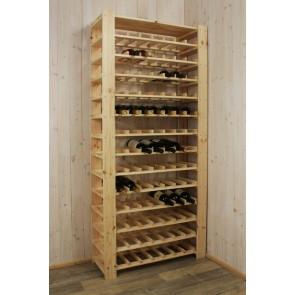 Állvány borok tárolására, 91 üvegre,
