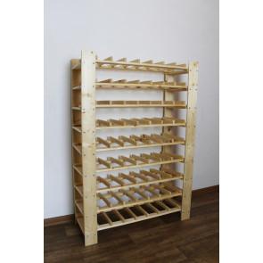 """Állvány borok tárolására, 63 üvegre, """"Natur"""""""