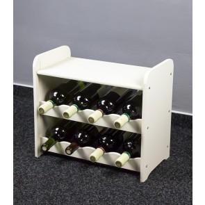 Bortartó, 8 üvegre, fehér, 38x42x27 cm