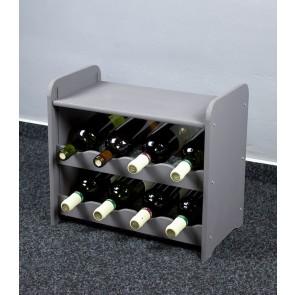 Bortartó, 8 üvegre, sötétszürke, 38x42x27 cm