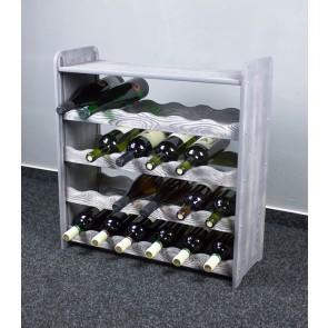 Bortartó, 24 üvegre, szürke, 65x63x27 cm