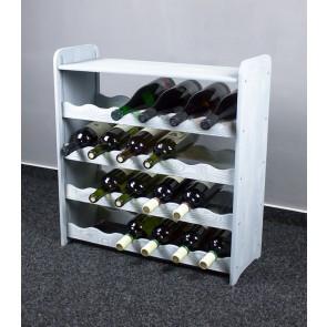 Bortartó, 24 üvegre, világosszürke, 65x63x27 cm