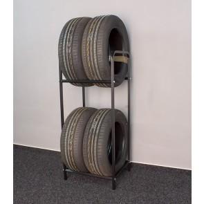 Keréktartó állvány, fekete, 4 db kerékre