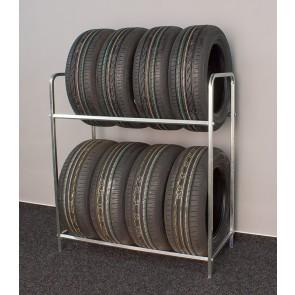 Keréktartó állvány, cinkelt, 8 db kerékre