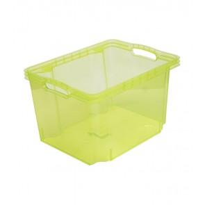 Multi M műanyag tároló doboz, világoszöld, fedél nélkül, 35x27x21 cm