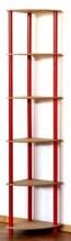 Dedal kombinált sarok polcrendszer, 6 polc, 176x33x33 cm