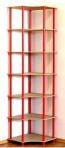 Dedal kombinált sarok polcrendszer, 7 polc, 210x55x55 cm